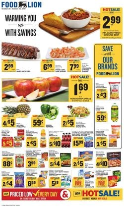 Catalogue Food Lion from 10/20/2021
