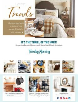 Catalogue Tuesday Morning from 10/14/2021