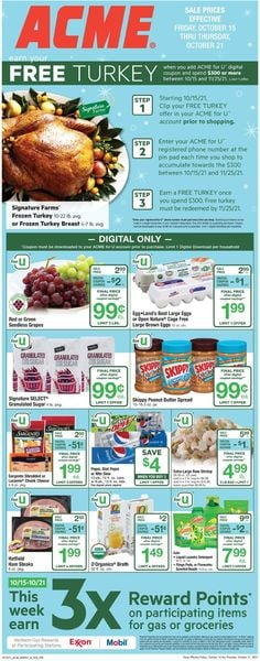 Catalogue Acme from 10/15/2021