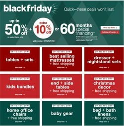 Catalogue Ashley Furniture Black Friday ad 2020 from 11/19/2020