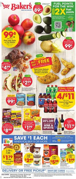 Current weekly ad Baker's