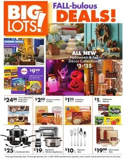 Catalogue Big Lots from 09/25/2021