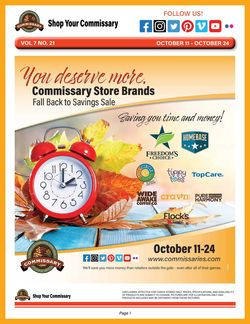 Current weekly ad Commissary