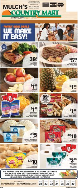 Catalogue Country Mart from 09/21/2021