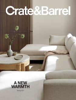 Catalogue Crate & Barrel from 02/01/2021