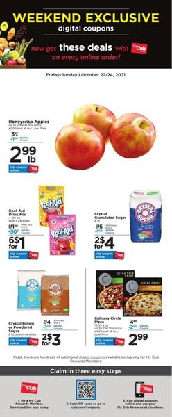 Catalogue Cub Foods from 10/22/2021