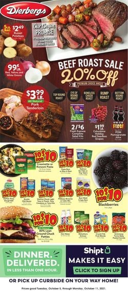 Catalogue Dierbergs from 10/05/2021
