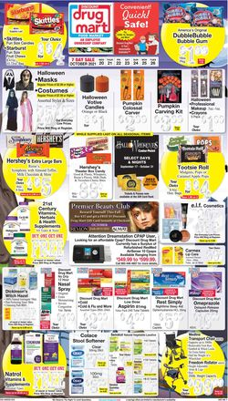 Catalogue Discount Drug Mart Halloween 2021 from 10/20/2021