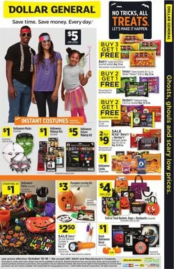 Catalogue Dollar General Halloween 2021 from 10/10/2021