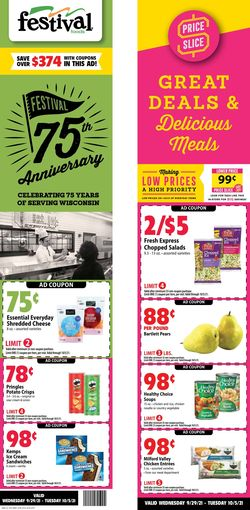 Catalogue Festival Foods from 09/29/2021
