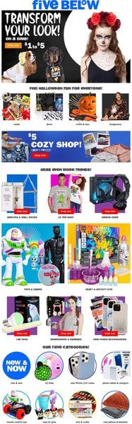 Catalogue Five Below from 10/15/2021