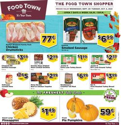 Catalogue Food Town from 09/29/2021