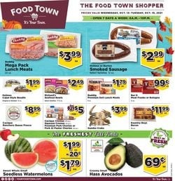 Catalogue Food Town from 10/13/2021