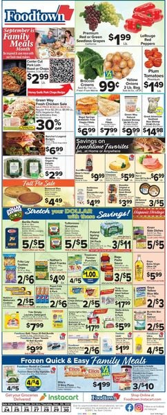 Catalogue Foodtown from 09/24/2021