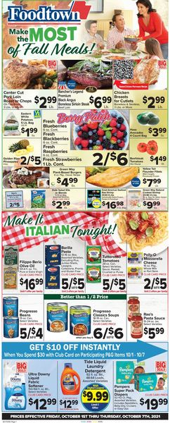 Catalogue Foodtown from 10/01/2021