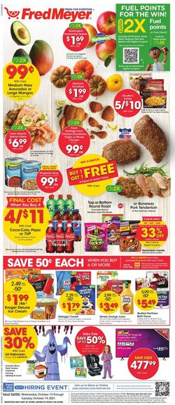 Catalogue Fred Meyer Halloween 2021 from 10/13/2021