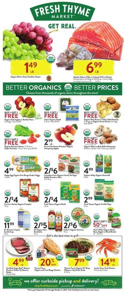 Catalogue Fresh Thyme from 09/29/2021