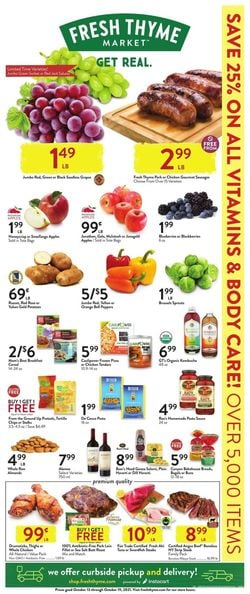 Current weekly ad Fresh Thyme