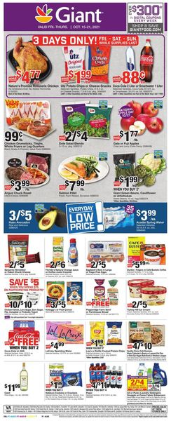 Catalogue Giant Food from 10/15/2021
