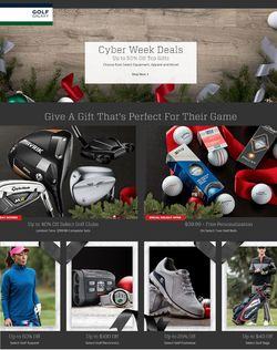 Catalogue Golf Galaxy Cyber Monday 2020 from 11/30/2020