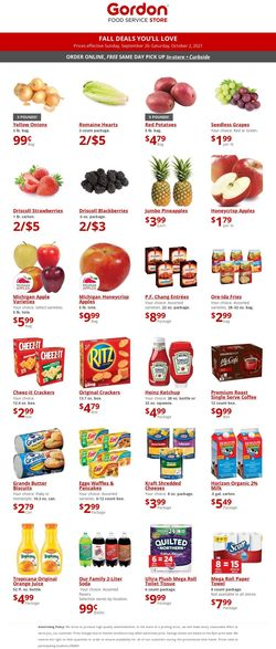 Catalogue Gordon Food Service Store from 09/26/2021