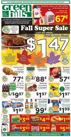 Catalogue Green Hills Grocery from 09/29/2021