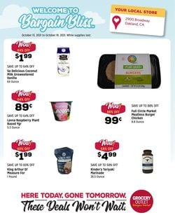 Catalogue Grocery Outlet from 10/13/2021