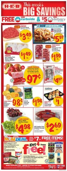 Catalogue H-E-B from 09/22/2021