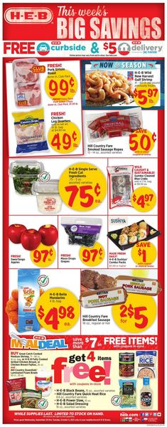 Catalogue H-E-B from 09/29/2021