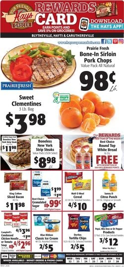 Catalogue Hays Supermarket from 09/22/2021