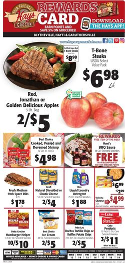 Catalogue Hays Supermarket from 10/13/2021