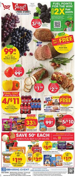 Catalogue Jay C Food Stores Halloween 2021 from 10/13/2021