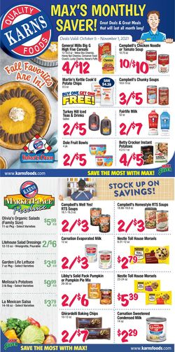 Catalogue Karns Quality Foods Halloween 2021 from 10/05/2021