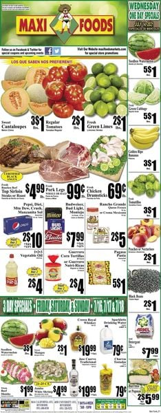 Catalogue Maxi Foods from 07/14/2021