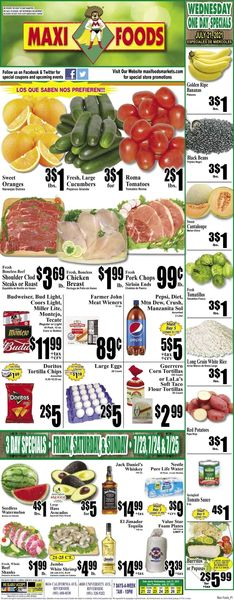 Catalogue Maxi Foods from 07/21/2021