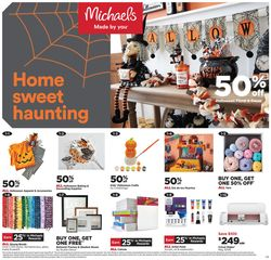 Catalogue Michaels Halloween 2021 from 10/17/2021