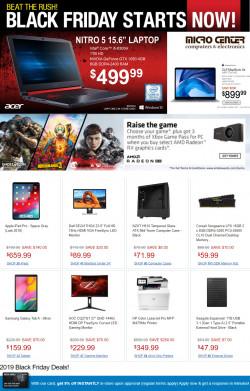 Catalogue Micro Center Black Friday Ad 2019 from 11/26/2019