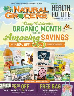 Catalogue Natural Grocers from 08/27/2021