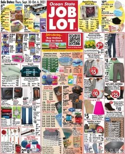 Catalogue Ocean State Job Lot from 09/30/2021