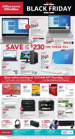 Catalogue Office DEPOT Black Friday 2020 from 11/26/2020