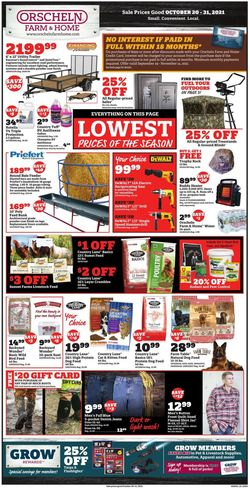 Current weekly ad Orscheln Farm and Home
