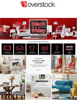 Catalogue Overstock Black Friday 2020 from 11/14/2020
