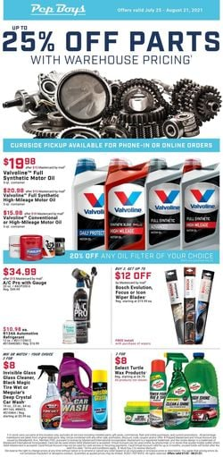 Catalogue Pep Boys from 07/25/2021