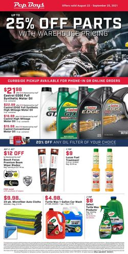 Catalogue Pep Boys from 08/22/2021
