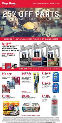 Catalogue Pep Boys from 09/26/2021