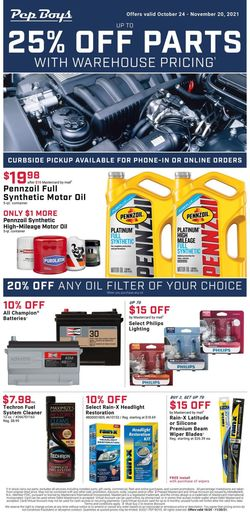 Current weekly ad Pep Boys
