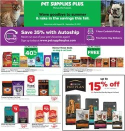 Catalogue Pet Supplies Plus from 08/26/2021