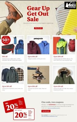 Catalogue REI Black Friday 2020 from 11/13/2020