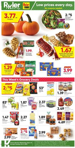 Catalogue Ruler Foods from 09/22/2021