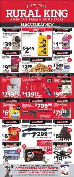 Catalogue Rural King EARLY BLACK FRIDAY 2021 AD from 10/07/2021